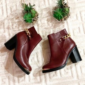 Topshop Ankle Leather Boots